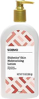 Amazon Brand - Solimo Diabetics' Skin Moisturizing Lotion, Fragrance Free, 13 Ounces