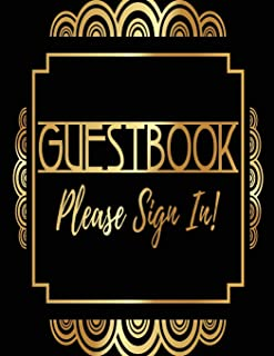 Guest Book Please Sign In: Visitor Log Book & Register, Login Notebook, Record Guest Sign-In, Register Book. Includes Sections For Date, Visitor, ... In & Time Out. Capture 1,040 Visitor Records.