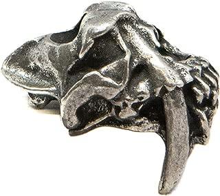 Schmuckatelli Co. Sabretooth Skull Bead
