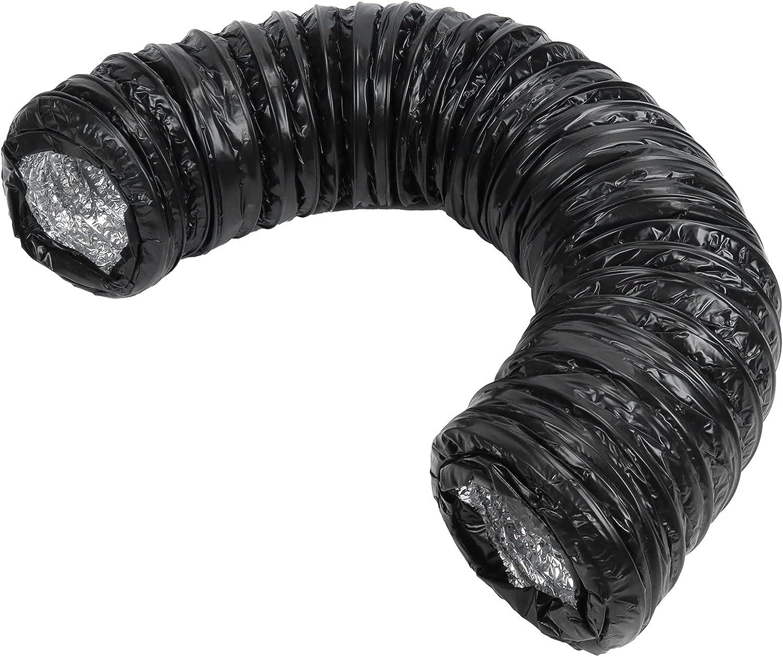 Flexible 4.3-Inch Aluminum Ducting PVC Black Ve Max Very popular! 73% OFF