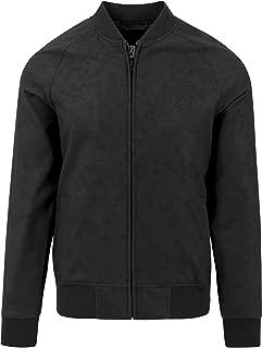 Imitation Leather Raglan Blouson Streetwear Giacca Bomber Uomo