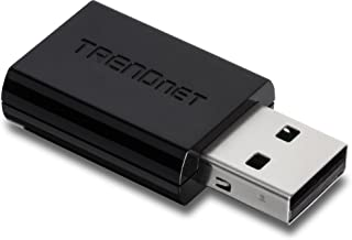 TRENDnet Dual Band USB WiFi Adapter IEEE 802.11 a/b/g/n/ac Wireless Network for Desktop Computer/ Laptop Support Windows, Mac with one-touch, Supports Windows XP/Vista/7/8/8.1(32-bit/64-bit), Mac OS X, TEW-804UB
