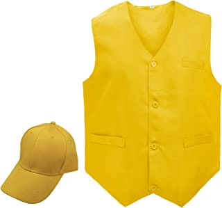 Restaurant Formal Dress Vest & Solid Color Cap Set, Clerk Uniform