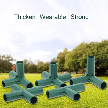 SANGDA Gardening Frame Connector, 30 Pcs 16mm Plastic Greenhouse Frame Furniture Connectors Plant Stakes Fencing Pipe Joint f