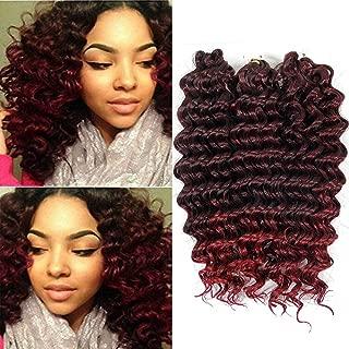 BE 12inch Deep wave crochet braid hair extension ombre bohemian hair 3piece per lot synthetic hair (1B-bug 3Piece)