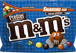 M&M'S Pretzel Chocolate Candy Sharing Size 8-Ounce Bag (Pack of 8)