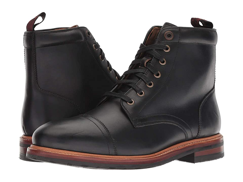 Florsheim Foundry Cap Toe Lace-Up Boot (Black Horween) Men