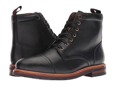 Florsheim Foundry Cap Toe Lace-Up Boot (Black Horween) Men