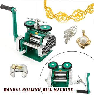 TBVECHI Rolling Mill Machine, DIY Manual Combination Rolling Mill Machine Jewelry Press Tabletting Tool 85mm for Jewelry Design & Repair