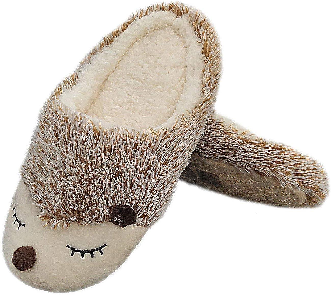 Cute Plush Hedgehog Slippers Fluffy Unicorn Slip Animal Faux Fur Limited Kansas City Mall time trial price
