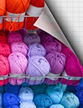 Knitting Design Graph Paper 4:5; Suitable for Most Knitting Projects with Standard Yarn; 4 Stitches Measures 5 Rows; 115 Sheets