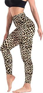 High Waisted Pattern Leggings for Women Soft Tummy...