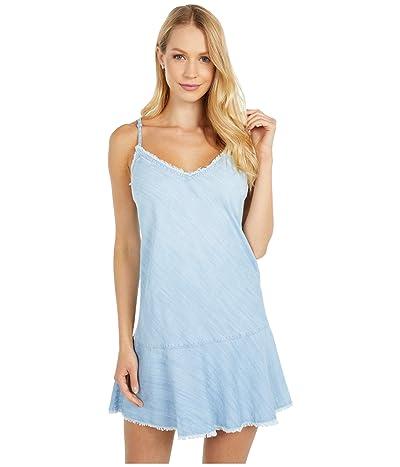 bella dahl Fray Bias Cami Dress w/ Ruffle Hem (Sea Spray Wash) Women