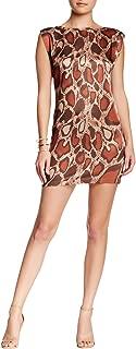 VERTIGO PARIS Women's Printed Sleeveless Short Shift Dress