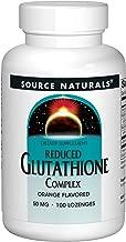 Source Naturals Reduced Glutathione Complex 50mg Orange Flavored Herbal Antioxidant Complex - 100 Lozenges