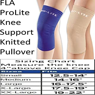 Fla 37-400SMBEG Pro Lite Knee Support Knitted Pullover, Beige, Small