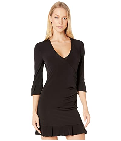 BCBGeneration Day Long Sleeve Knit Dress (Black) Women