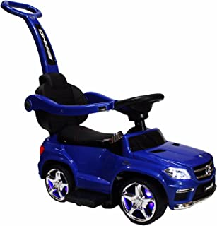 EMSTYLE 4-in-1 Mercedes GL63 Stroller Ride-On Toy Push Car - Blue