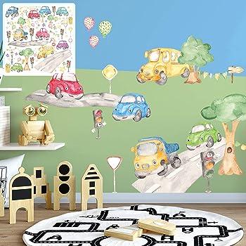Xxl Auto Car Cars Wandtattoo Set Verschiedene Motive Kinderzimmer Aufkleber Bunt Wanddeko Amazon De Baumarkt