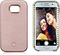 Vanjunn Selfie Led Light Case for Samsung S7 Edge - for Samsung Galaxy S7 Edge Cell Phone with Rechargeable Backup Rose Gold