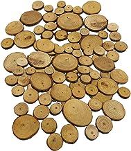non-brand 100 stuks diverse grootte natuurlijke grenen boom hout plakjes ronde log cirkels schijven voor kunst & ambachte...