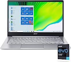 "Acer Swift 3 Intel Evo Thin & Light Laptop, 14"" Full HD, Intel Core i7-1165G7, Intel Iris Xe Graphics, 8GB LPDDR4X, 256GB ..."