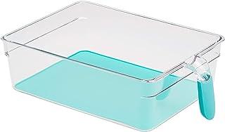 Amazon Basics Bacs avec poignée pour réfrigérateur Très grands Lot de 2