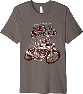 Skeleton Evil Speed Rider Vintage Bike T-Shirt