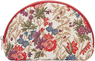 Signare Tapestry cosmetic bag makeup bag for Women with Flower Meadow Design