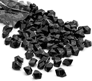 Acrylic Gems Ice Crystal Rocks for Vase Fillers, Party Table Scatter, Wedding, Photography, Party Decoration, Crafts by Royal Imports, 3 LBS (Approx 580-600 gems) - Black