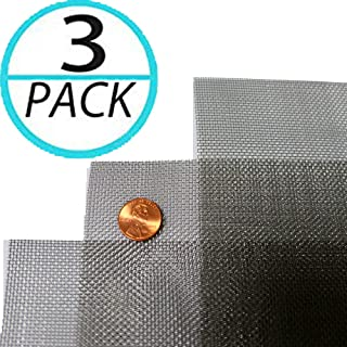(Pack of 3) Woven Wire 20 Mesh 12