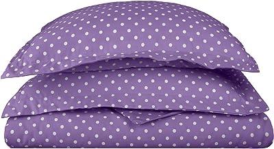 Superior Polka Dot Duvet Cover Set, 600 Thread Count Cotton Blend Bedding Sets, Soft and Wrinkle Resistant Duvet Cover wit...