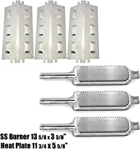 OutdoorBazaar Set of Three Burners and Three Heat Plates for Char-Broil, Kenmore and Thermos Grill Models