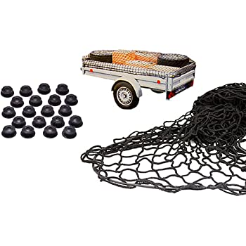 Anh/änger Netz mit Gummiseil elastisch//dehnbar H/ängernetz mit Spanngummi zur optimalen Ladungssicherung TRIBURG/® Anh/ängernetz 2x3 mit Eckmarkierungen
