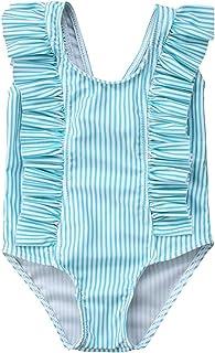 TROSJ Toddler Baby Girls Swimsuit Ruffled Sleeveless Swimwear One-Piece Beachwear Bathing Suit 0-24Months