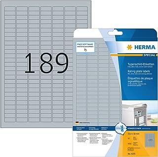 HERMA 4410/Etichette 200/pezzi nome adesivi formato 80/X 50/mm, per PC di identificazione per l impiego temporanea, etichetta in tessuto rimovibile, Badge Nominativi bianco//blu