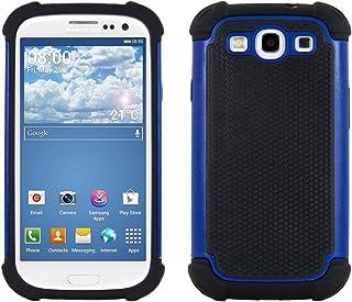 kwmobile Funda Compatible con Samsung Galaxy S3 / S3 Neo - Carcasa Protectora de TPU - Cover Trasero en Azul/Negro