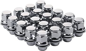 ZY Wheel Set of 20pcs 12X1.5mm Hex 13/16'' (21mm) Chrome Mag Style lug nuts with Washer Closed End for Toyota Lexus Scion Pontiac Factory OEM Mag Seat Wheels
