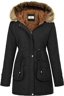 Womens Hooded Warm Winter Thicken Fleece Lined Parkas...