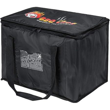 MIAOQI Sac de livraison de nourriture pour pizza, boissons à emporter, sac de glace réutilisable, pliable, portable, isotherme pour pique-nique, grand restaurant, déjeuner étanche (50 LUPGRADÉ)