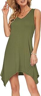 Ärmelloses Sommer-Tanktop-Kleid Für Damen