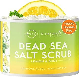 O Naturals Gommage Exfoliant Visage Corps Pied au Citron et Menthe au Sel de la Mer Morte Anti cellulite Raffermissant Hyd...