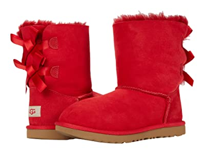 UGG Kids Bailey Bow II (Little Kid/Big Kid) (Ribbon Red) Girls Shoes