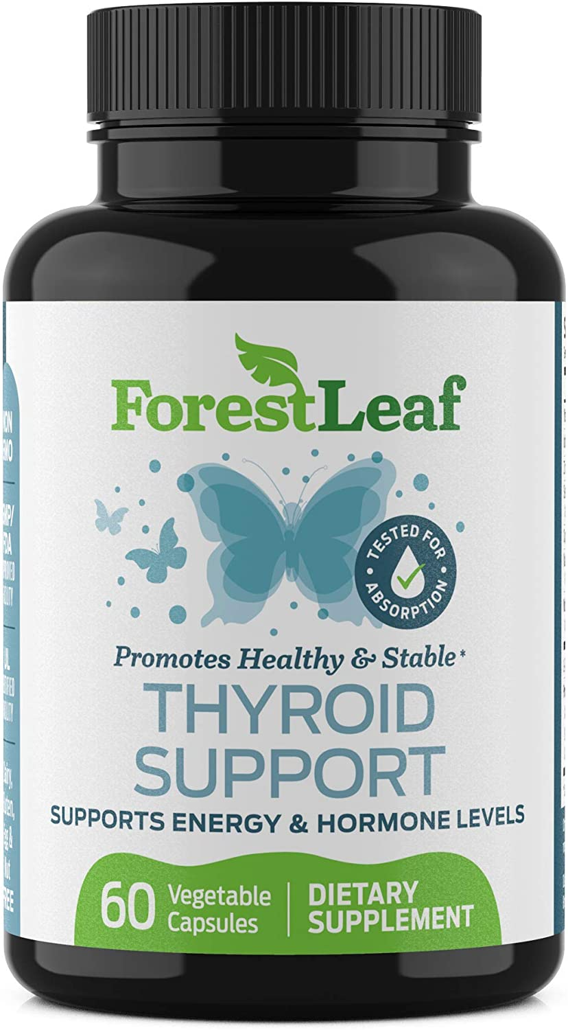 Thyroid Support Supplement with Iodine - All Natural Mineral and