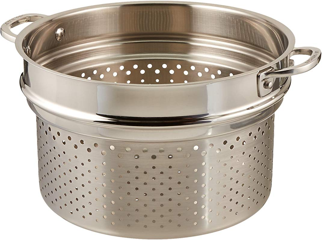 Le Creuset Tri Ply Stainless Steel Deep Colander Insert 10 Inch