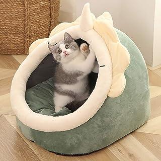 猫ハウス ドーム型 キャットハウス かわいい 恐竜の形 洗濯可能 厚手 冬 保温 にゃん ワンチャン ぐっすり眠れる 暖かい ソフト 猫用 犬用 すべりにくい 通気性 耐摩耗性 無毒 無味 清潔