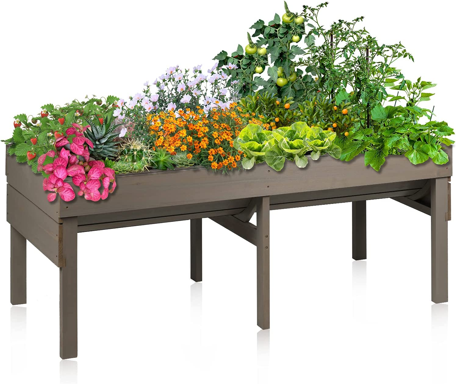 Aoodor Wooden Raised Garden Bed Elevated Be super welcome Cash special price for Vegetab Box Planter