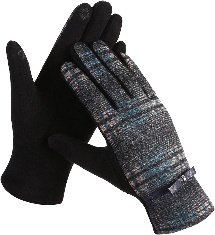 Belle Dame Women's Buffalo Plaid Touchscreen Gloves Tartan Texting Gloves Winter Gloves Driving Gloves Warm Lining