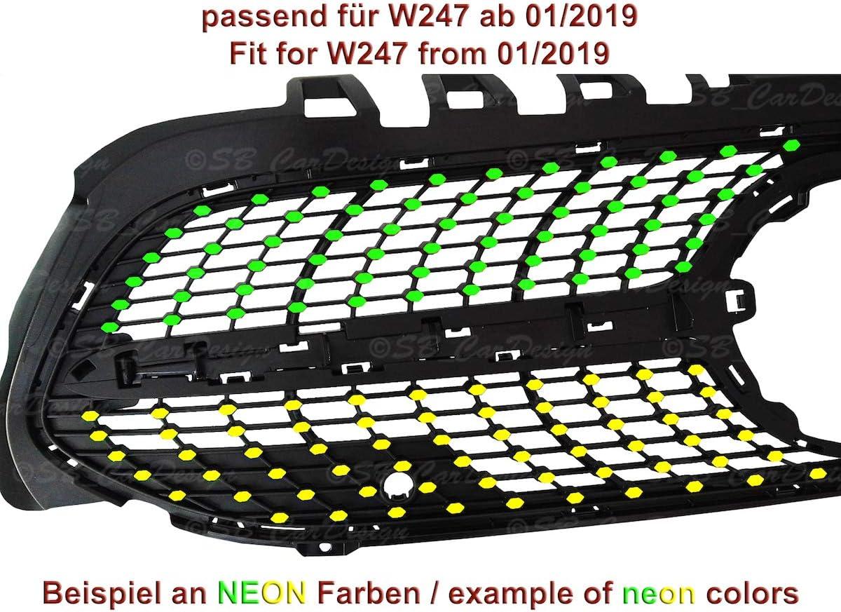 Sb Cardesign Diamantgrill Folien Sticker Für Mercedes B Klasse W247 Amg Grillaufkleber Mattschwarz Auto
