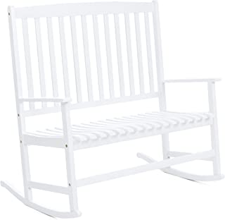 Admirable Amazon Com White Rocking Chairs Chairs Patio Lawn Camellatalisay Diy Chair Ideas Camellatalisaycom